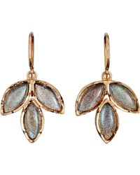 Irene Neuwirth | Metallic Gemstone Triple Marquise Earrings | Lyst