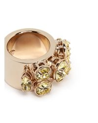 Valentino | Yellow Rhinestone Ring | Lyst