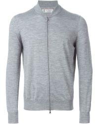 Brunello Cucinelli - Gray Zipped Cardigan for Men - Lyst