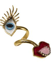 Erickson Beamon - Multicolor So Real Eyes And Lips Ring - Lyst