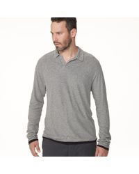 James Perse - Gray Doubled Polo for Men - Lyst