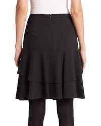 Akris Punto - Black Double-flounce Jersey Skirt - Lyst