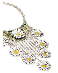 Philippe Audibert - Multicolor 'margueritte' Enamel Daisy Fringe Bib Necklace - Lyst
