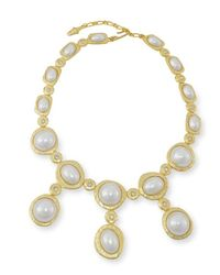 Kenneth Jay Lane | White Pearl Drop Necklace | Lyst