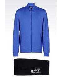 EA7 | Blue Sweatsuit for Men | Lyst