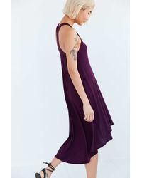 Ecote - Purple Knit High/low Tee Dress - Lyst