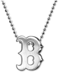 Alex Woo | Metallic Mlb Collection By Sterling Silver Boston Red Sox Pendant Necklace | Lyst