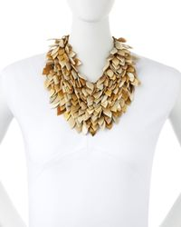 Ashley Pittman - Metallic Tanzu Light Horn Layered Chain Leaf Necklace - Lyst