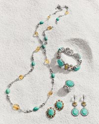 Stephen Dweck | Blue Turquoise & Citrine Long Necklace | Lyst