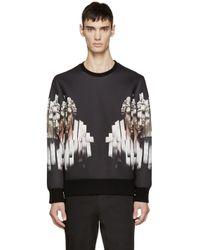 Neil Barrett - Black Neoprene Sliced Hercules Sweatshirt for Men - Lyst