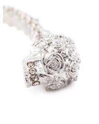 Alexander McQueen Gray Double Skull Bracelet