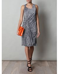 Balenciaga - Black Chevron-Print Jersey Dress - Lyst