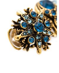 Oscar de la Renta | Blue Star Drop Clip-On Earrings | Lyst