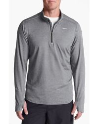Nike | Gray 'element' Dri-fit Half Zip Running Top for Men | Lyst