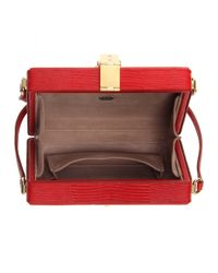 Dolce & Gabbana - Red Embossed-Leather Shoulder Bag - Lyst