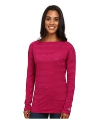 The North Face - Purple L/s Gracie Top - Lyst