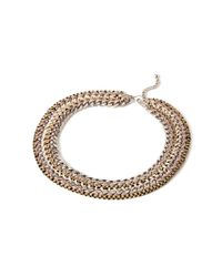 Forever 21 | Metallic Braided Chain Statement Necklace | Lyst