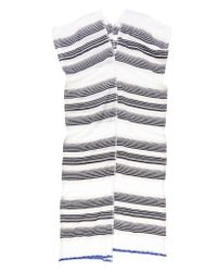 lemlem | Gray Nunu Striped-Cotton Maxi Dress  | Lyst