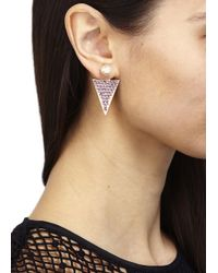 Ca&Lou - Pink Stella Rose Gold Plated Drop Earrings - Lyst