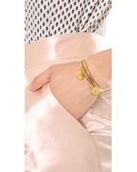 Kate Spade | Metallic Charm Letter Bangle Bracelet | Lyst