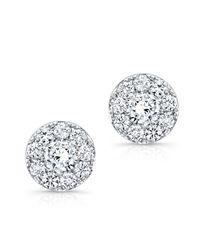 Anne Sisteron - 18kt White Gold Diamond Stud Earrings - Lyst