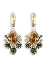 Moutoncollet - Metallic Moutton Collet Angels Clip On Drop Earrings - Lyst