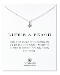 Dogeared | Metallic Reminders Lifes A Beach Sterling Silver Pendant Necklace | Lyst