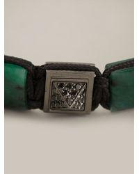 Shamballa Jewels - Black Diamond Embellished Bracelet for Men - Lyst