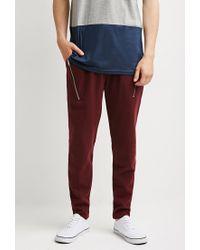 Forever 21   Purple Zip-pocket Piqué Sweatpants for Men   Lyst