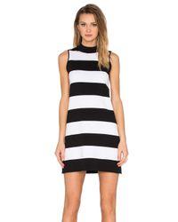 Autumn Cashmere | Blue Mock Neck Stripe Dress | Lyst