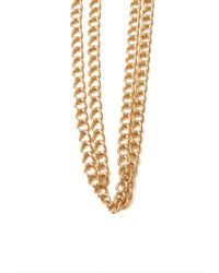 Forever 21 | Metallic Tooth Pendant Drop Necklace | Lyst