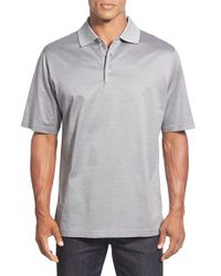 Bugatchi | Metallic Tipped Mercerized Cotton Polo for Men | Lyst