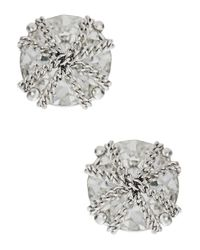 ABS By Allen Schwartz | Metallic Rhinestone Stud Earrings | Lyst