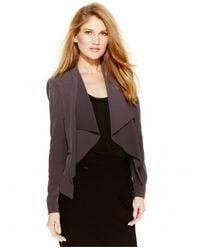 Calvin Klein | Gray Petite Draped Jacket | Lyst