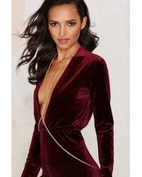 Nasty Gal | Metallic Get Roped In Body Chain | Lyst