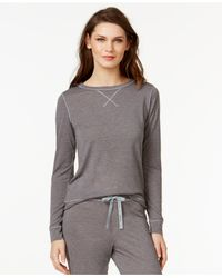 Calvin Klein | Purple Liquid Lounge Long-sleeve Knit Pajama Top | Lyst
