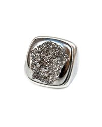 Isabel Englebert - Metallic Earth Drusi Ring Silver - Lyst
