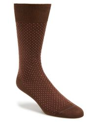 Paul Smith | Brown 'pin Polka Dot' Socks for Men | Lyst