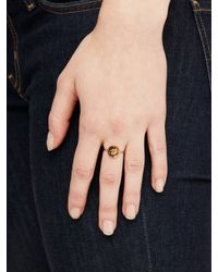 kate spade new york | Metallic Forever Mine Initial Ring | Lyst