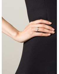 V Jewellery | Metallic 'lateral' Ring | Lyst