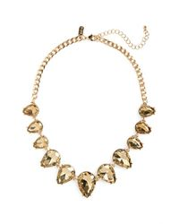 Tasha | Metallic Statement Necklace - Hematite/ Black | Lyst