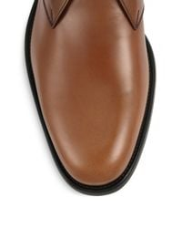 Ferragamo - Brown Pioneer Leather Chukka Boots for Men - Lyst