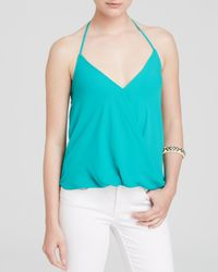 Olivaceous - Green Crossover Halter Top - Lyst