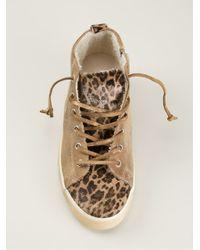 Leather Crown - Brown Hi-top Sneakers - Lyst