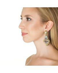 Suzanna Dai   Metallic Vincenza Drop Earrings   Lyst