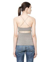 Alexander Wang - Gray Cutout Modal Cami Top - Lyst