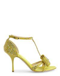 Giuseppe Zanotti - Yellow Alien Crystallized Sandals - Lyst