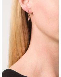 Marie-hélène De Taillac | Pink Tourmaline Lightning Bolt Earrings | Lyst
