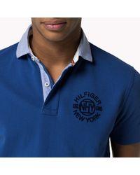 Tommy Hilfiger | Blue Cotton Regular Fit Polo for Men | Lyst
