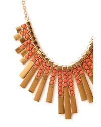Forever 21 - Metallic Art Deco Fan Bib Necklace - Lyst